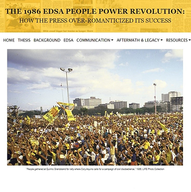 The 1986 EDSA People Power Revolution: How the Press Over-Romanticized its Success