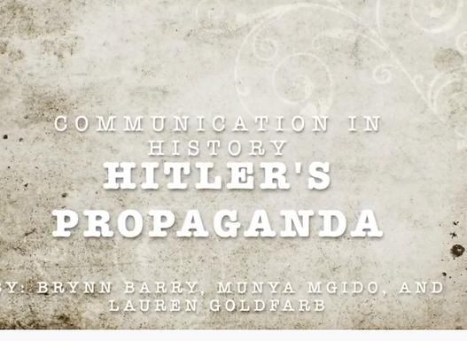 Hitler's Propoganda
