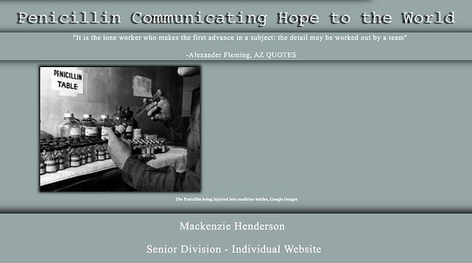 Penicillin Communicating Hope to the World