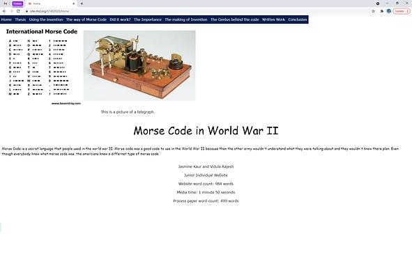 Morse Code in World War II