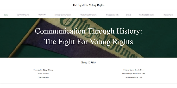Communication through History: The Fight for Voting Rights