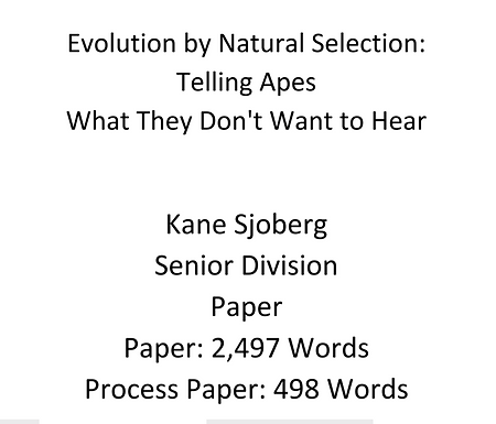 Evolution by Natural Selection:  Telling Apes What They Don't Want to Hear