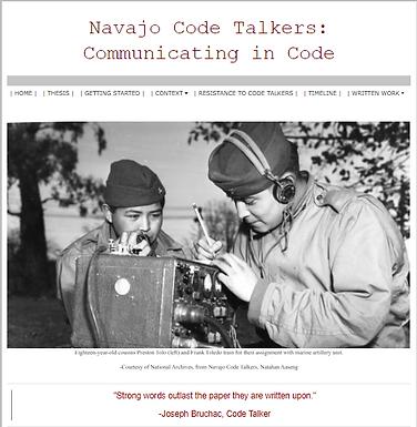 Navajo Code Talkers: Communicating in Code