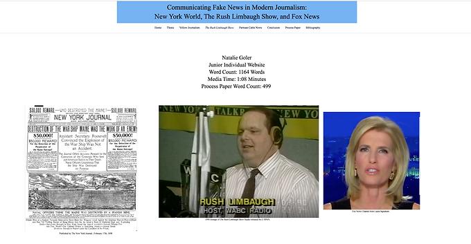 Communicating Fake News in Modern Journalism: The New York World, the Rush Limbaugh Show, and Fox News