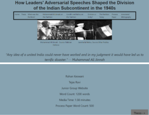 How Leaders' Adversarial Speeches Shaped the Division of the Indian Subcontinent in the 1940s
