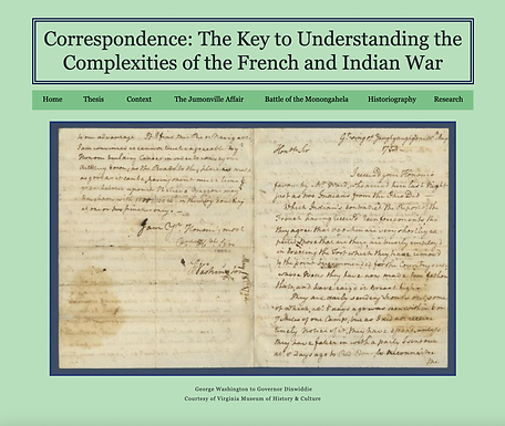 Correspondence: The Key to Understanding the Complexities of the French and Indian War
