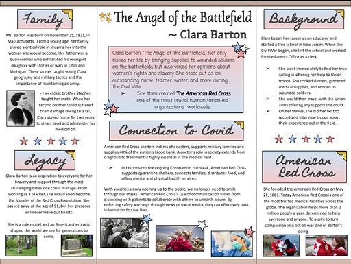 The Angel of the Battlefield                           ~Clara Barton