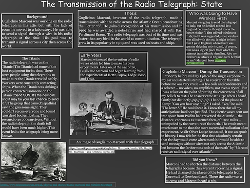 The Transmission of the Radio Telegraph