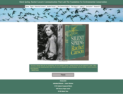Silent Spring: Rachel Carson's Communication That Laid The Foundation For Environmental Conservation