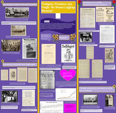 Prodigious, Prevalence, and Prolific: The Women's Suffrage Movement