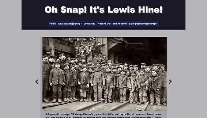 Oh Snap! It's Lewis Hine!