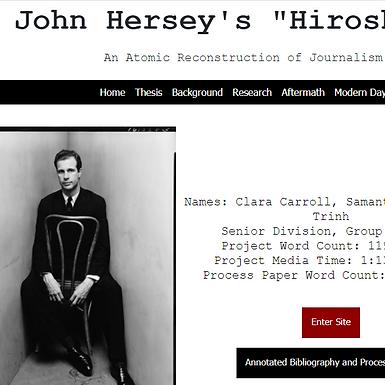 "John Hersey's ""Hiroshima"": An Atomic Reconstruction of Journalism"