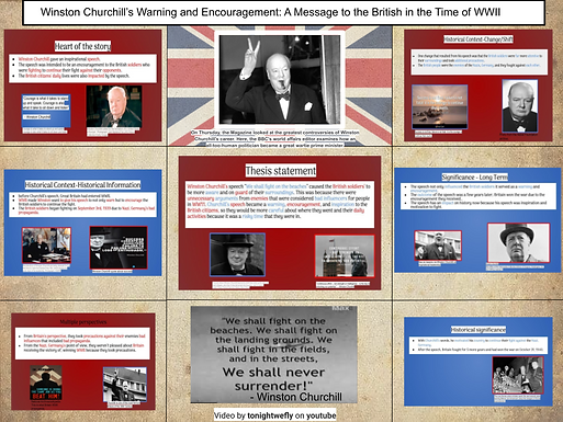 Winston Churchill's Warning and Encouragment: A Speech to the British in the Time of WWII