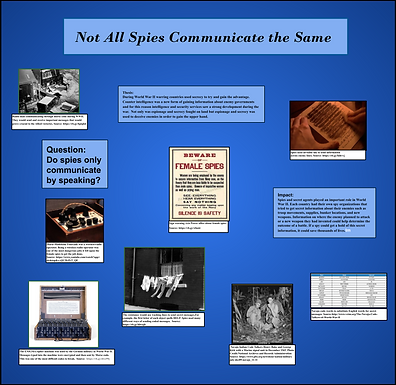 Not All Spies Communicate the Same Way