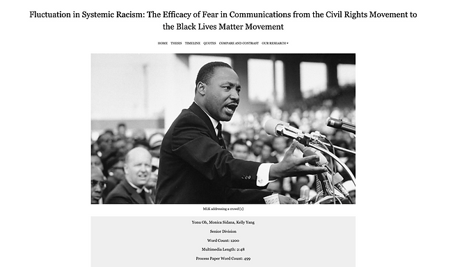 Fluctuation in Systemic Racism: The Efficacy of Fear in Communications from the Civil Rights Movement to the Black Lives Matter Movement