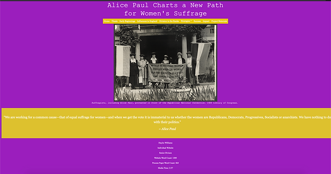 Alice Paul Charts a New Path for Women's Suffrage
