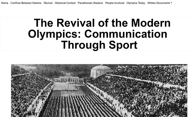 The Revival of the Modern Olympics: Communication Through Sport