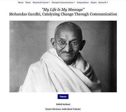 """My Life Is My Message:"" Mohandas Gandhi, Catalyzing Change Through Communication"