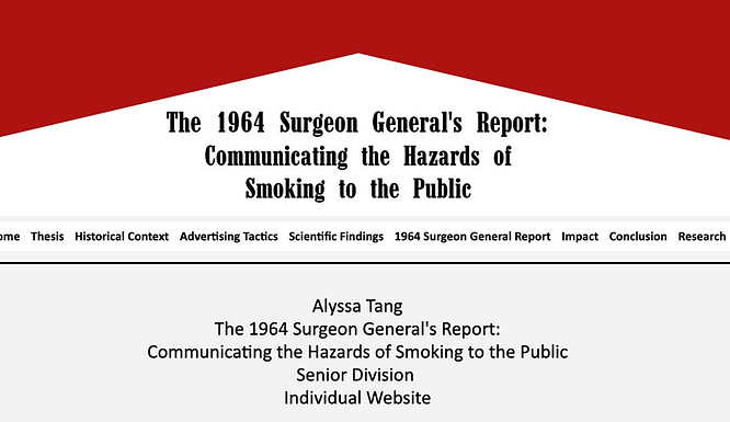 The 1964 Surgeon General's Report: Communicating the Hazards of Smoking to the Public