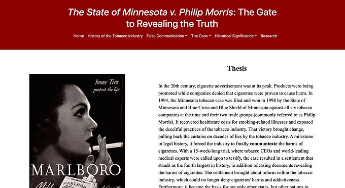 The State of Minnesota v. Philip Morris: The Gate to Revealing the Truth