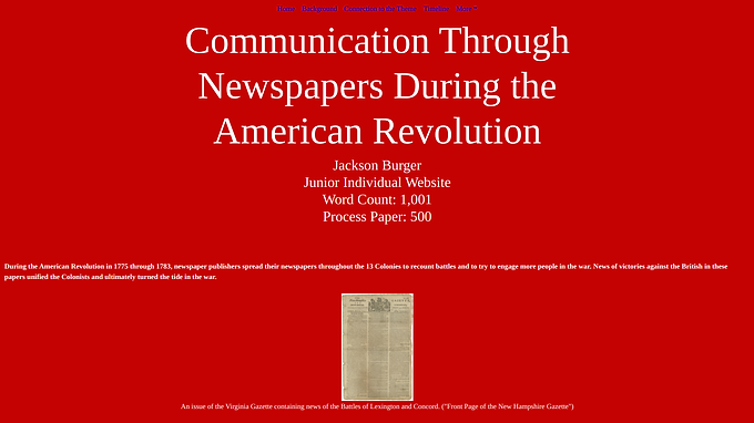 Communication Through Newspapers During the American Revolution