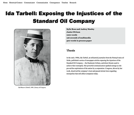 Ida Tarbell: Exposing the Injustices of the Standard Oil Company