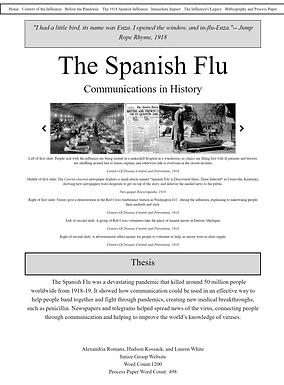 The 1918 Spanish Influenza