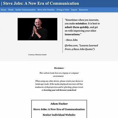 Steve Jobs: A New Era of Communicating