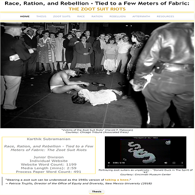 Race, Ration, and Rebellion - Tied to a Few Meters of Fabric: The Zoot Suit Riots
