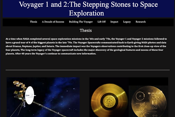 Voyager 1 and 2:The Stepping Stones to Space Exploration