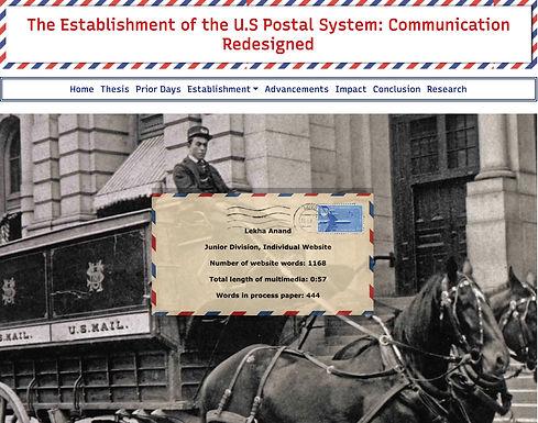 The Establishment of the U.S Postal System: Communication Redesigned