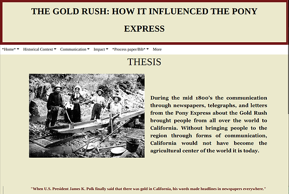 The Gold Rush: How it Influenced the Pony Express