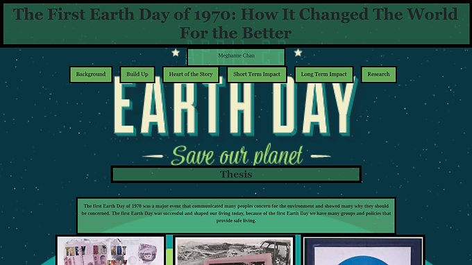 1970 and the Impact of the First Earth Day
