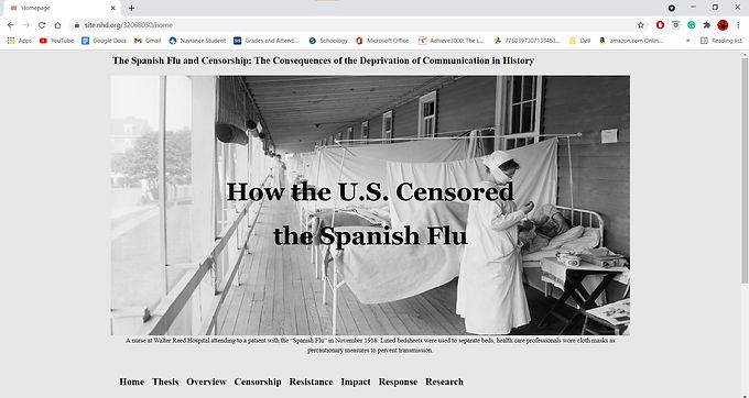 The Spanish Flu and Censorship: The Consequences of the Deprivation of Communication in History