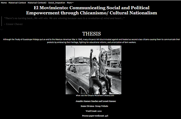 El Movimiento: Communicating Social and Political Empowerment through Chicanismo/ Cultural Nationalism