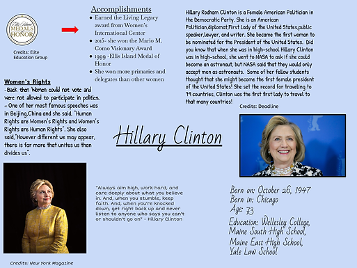 Hillary Clinton: Ambitious Female Politician