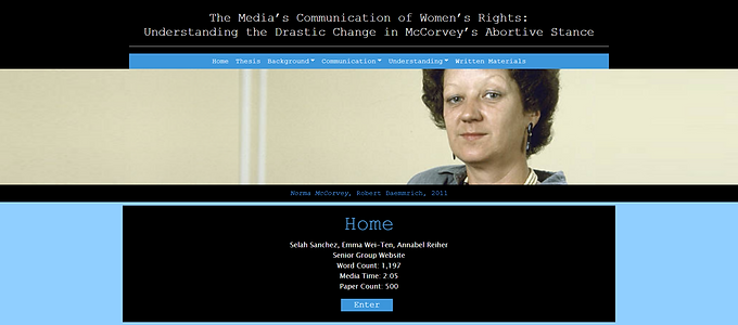 The Media's Communication of Women's Rights: Understanding the Drastic Change in McCorvey's Abortive Stance