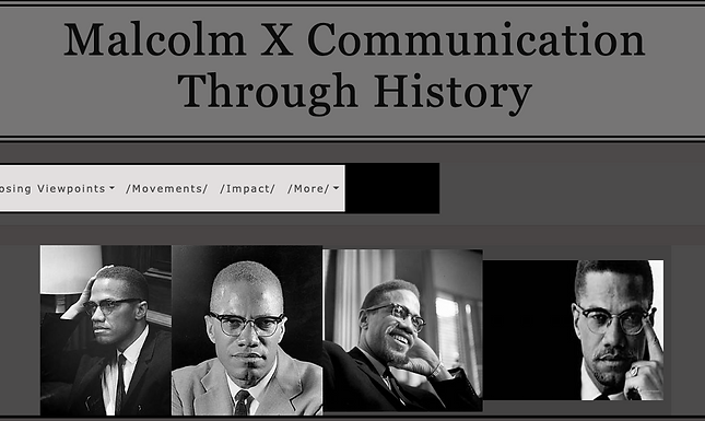 Malcolm X Communications in History