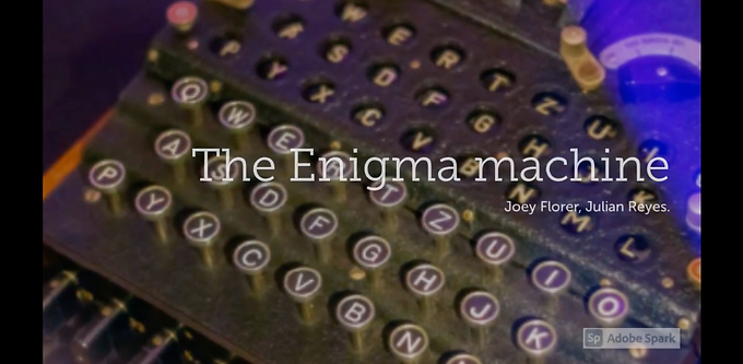 The Enigma secret communication in the war