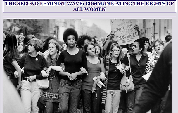THE SECOND FEMINIST WAVE:  COMMUNICATING THE RIGHTS OF ALL WOMEN