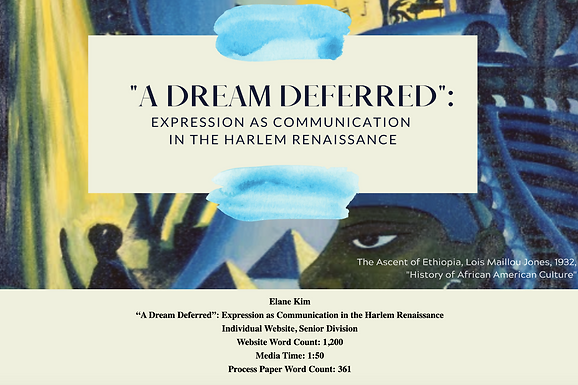 """""""A Dream Deferred"""": Expression as Communication in the Harlem Renaissance"""