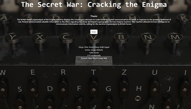 The Secret War: Cracking the Enigma