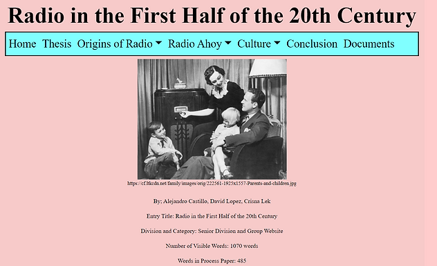 Radio in the First Half of the 20th Century