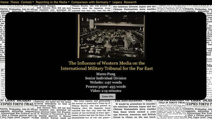 The Influence of Western Media on the ​​​​​​​International Military Tribunal for the Far East