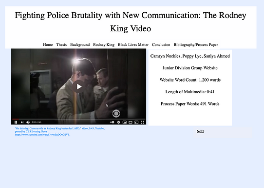 Fighting Police Brutality with New Communication: The Rodney King Video