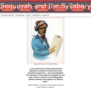 Sequoyah and the Syllabary