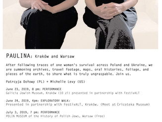 Join us for upcoming performances in Kraków and Warsaw with PAULINA.