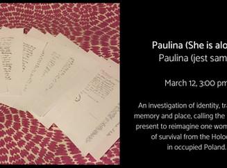 Presenting Paulina in Warsaw's Jewish Historical Institute