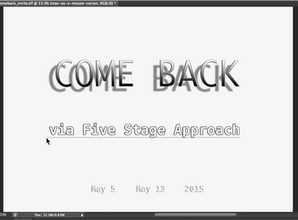 COME BACK (via Five Stage Approach)