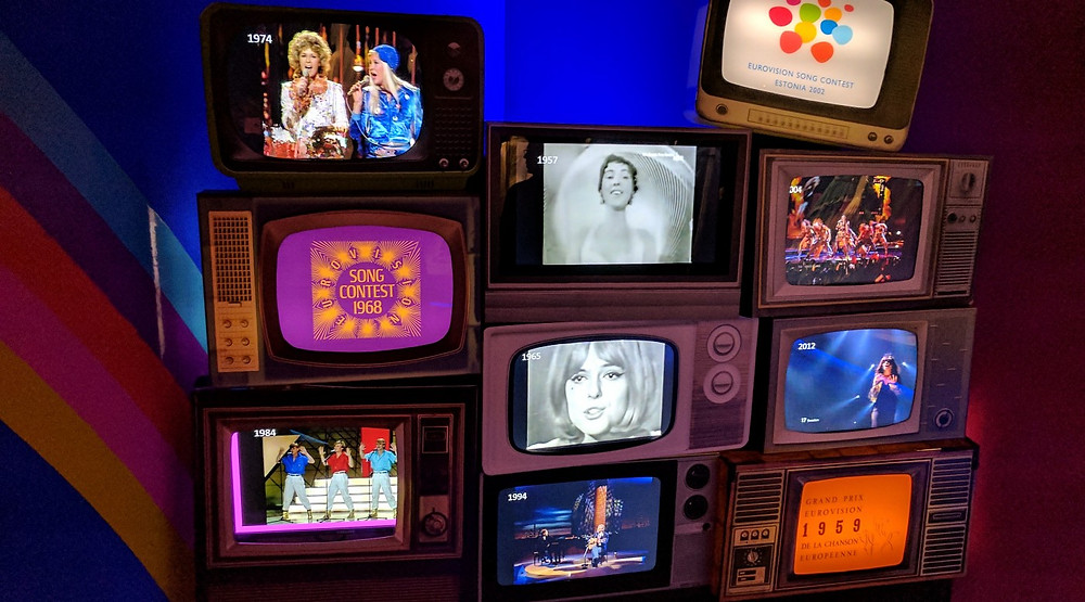 The Eurovision Corner at ABBA The Museum in Stockholm. Photo Credit AleWi [CC0]
